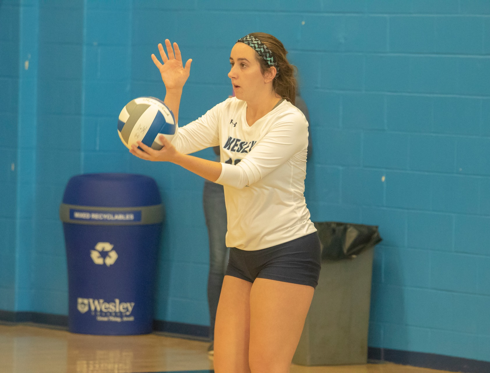 Wesley Volleyball won 3-1 in four sets against the Bowie State Bulldogs