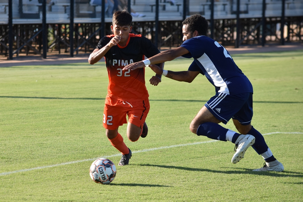 Freshman Ricky Gordillo had three assists (all on Ben Holthaus's goals) as the Aztecs men's soccer team beat GateWay Community College 10-1 to improve to 4-1 on the season. Photo by Ben Carbajal