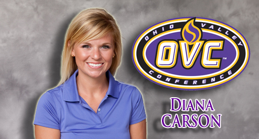 Senior Diana Carson captures second-team all-OVC honors