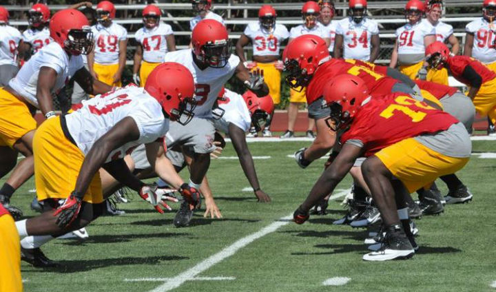 Ferris State Football Preseason Camp Continues In Big Rapids