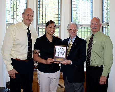 Faafiti honored by President Hurwitz for countless awards earned during the 2009-10 season