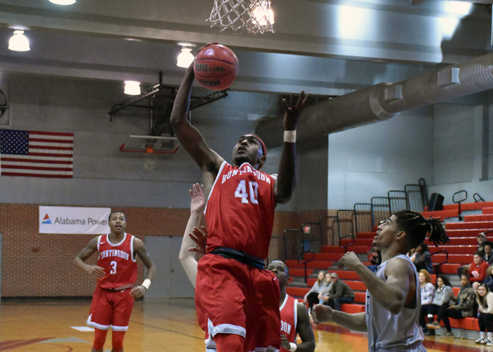 Brandon McLean scored 17 points and pulled down a career-high 13 rebounds in Huntingdon's loss to Averett on Saturday.