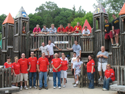 Ferris State Student-Athletes Lend A Helping Hand At Playscape