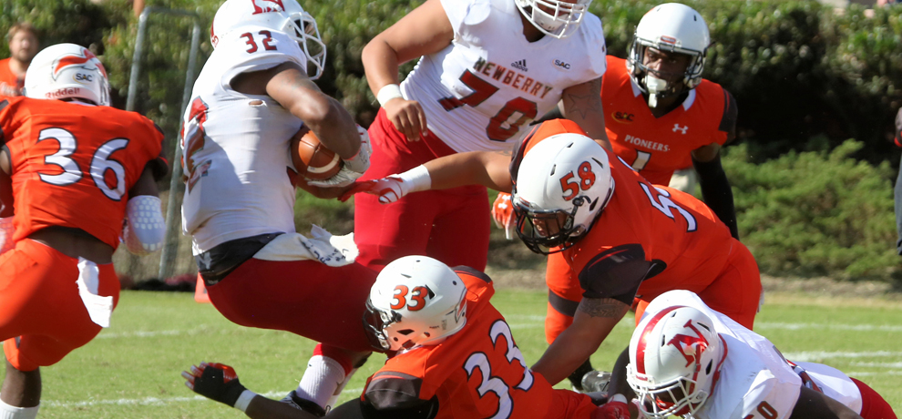 Pioneers blank Newberry 14-0 for homecoming win in critical SAC match-up