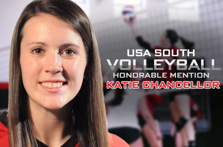 Volleyball: Katie Chancellor selected as USA South All-Conference Honorable Mention