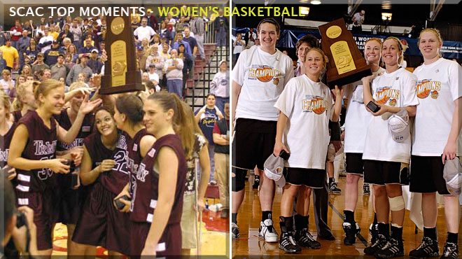 Trinity's 2003; DePauw's 2007 Title Runs recognized as SCAC Women's Basketball Top Moments