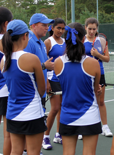 Defending Champion Williams Too Much for Blue Tennis