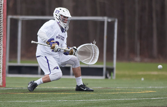 Men's lacrosse pulls away from Assumption to notch NE-10 road victory