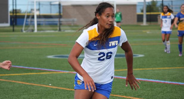 Hursey's Hat Trick Lifts JWU to 3-0 Win Over Monks
