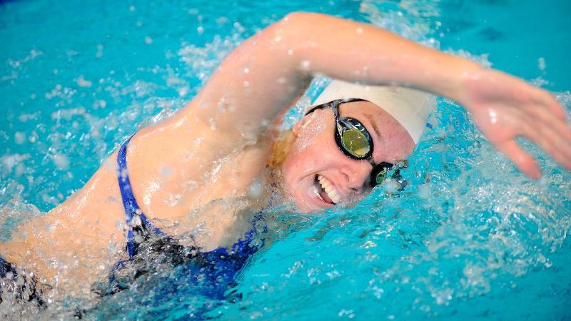 Swimming Sets School Record on Day One at NECs