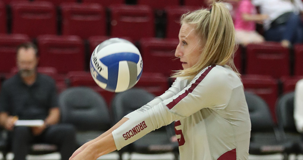 Allison Kantor had her fifth double-double in 15 matches this season on Saturday afternoon.