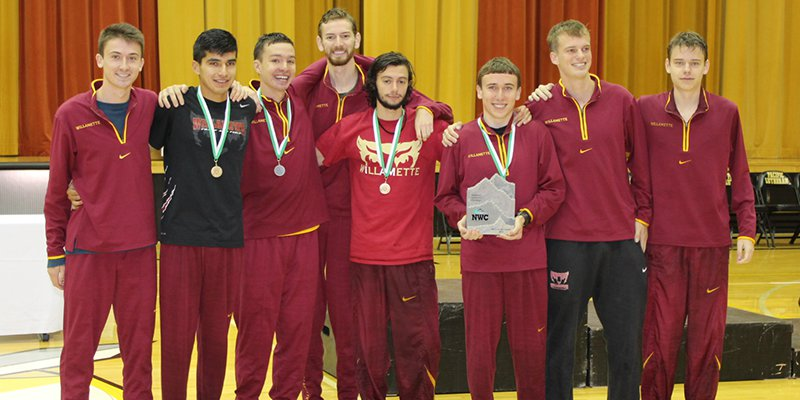 Willamette University Men's Cross Country, NWC Champions 2015