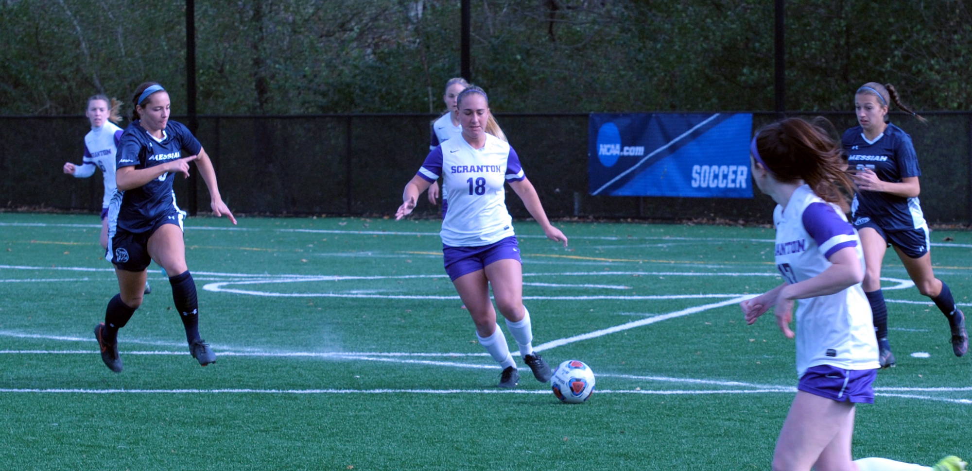 Junior Taylor Stevens and the women's soccer team dropped a 1-0 decision against 10th-ranked Messiah on Sunday in the second round of the NCAA Tournament.