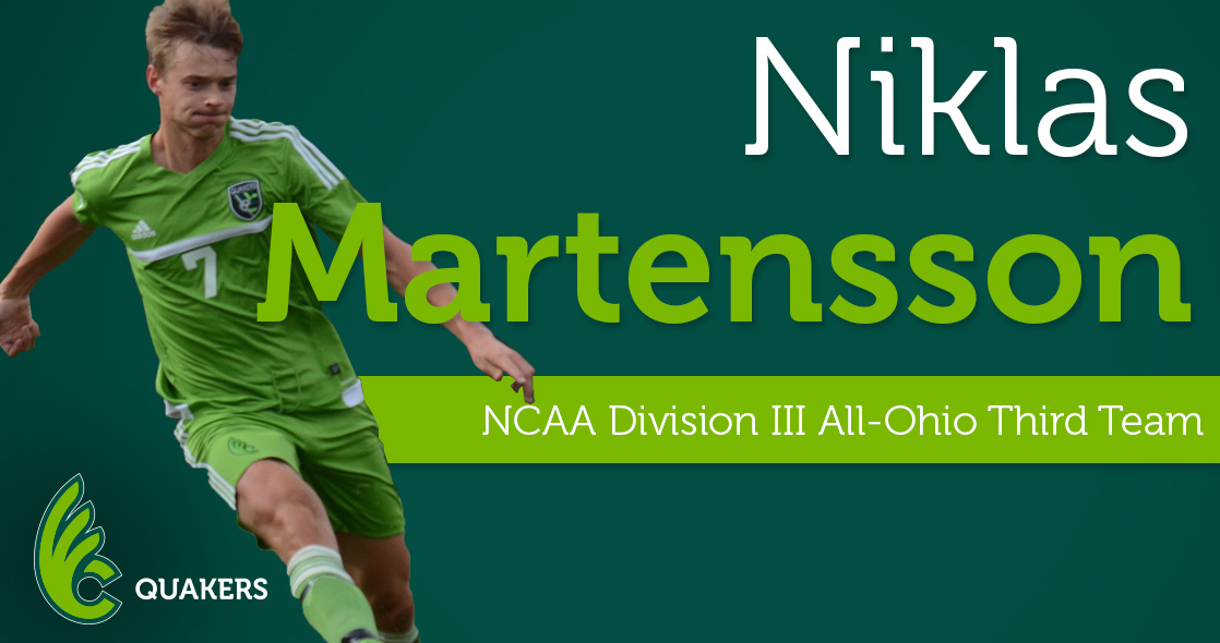 Niklas Martensson Named to OSCA NCAA Division III All-Ohio Third Team