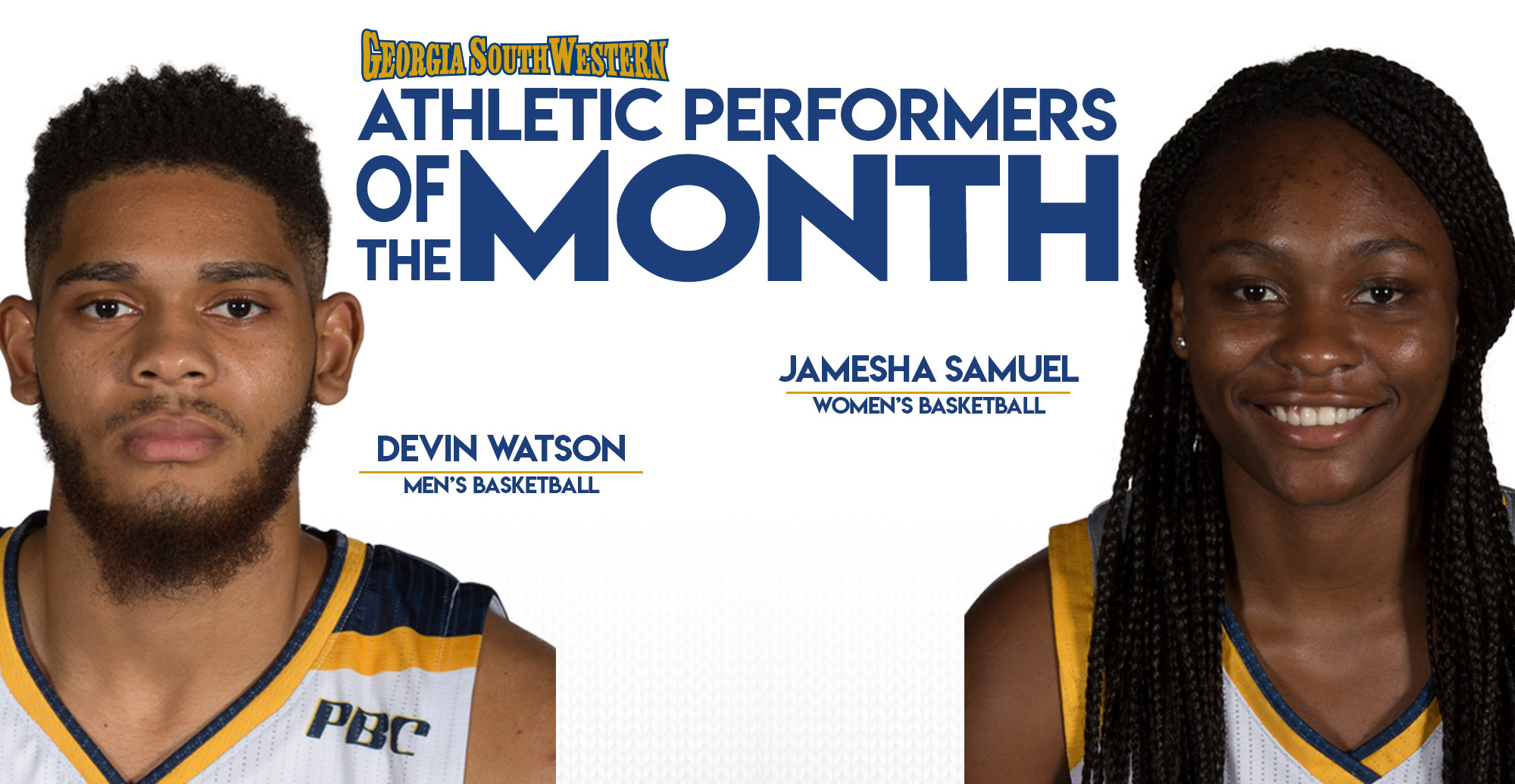 Watson and Samuel Named Top Performers in January