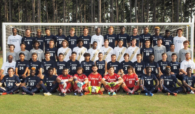 2017 N.C. Wesleyan Men's Soccer Team