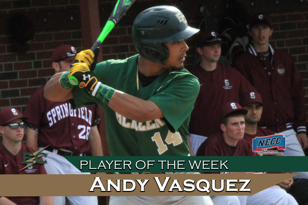 Vasquez Earns NECC Player Of The Week Honor