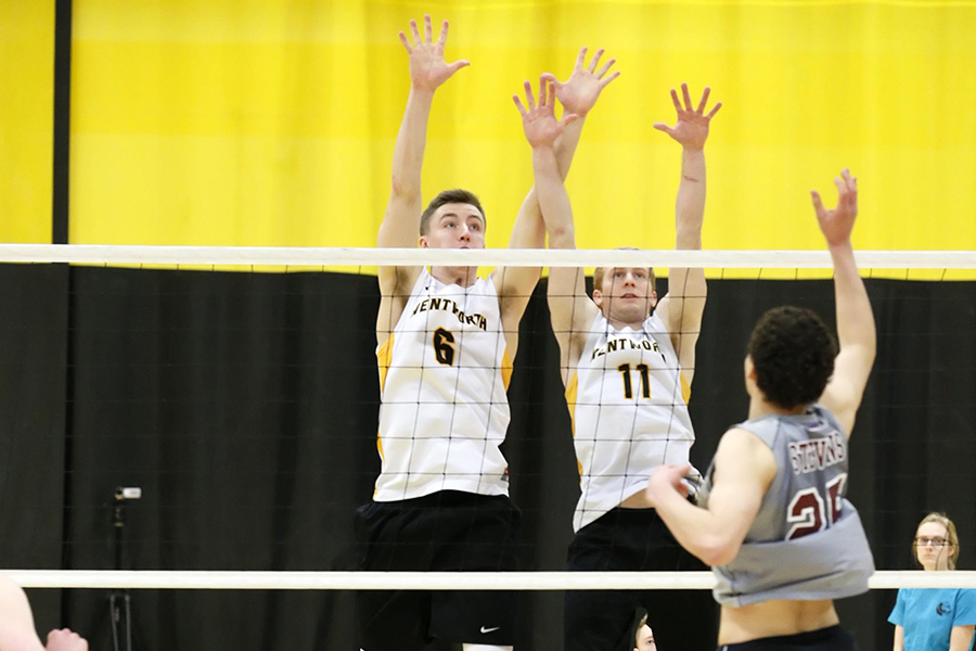 Men's Volleyball Runs Win Streak to Five With GNAC Tri-Match Sweep