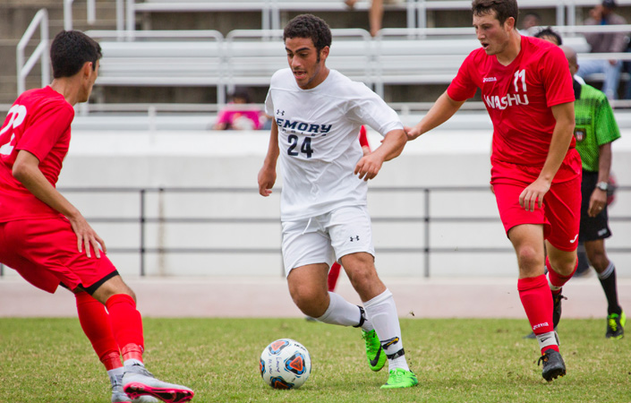 Texas-Tyler Rallies to Upend Emory Men's Soccer, 5-4, in Double Overtime