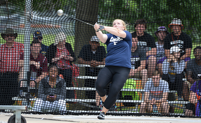 Throwers Compete in Last Chance Meet