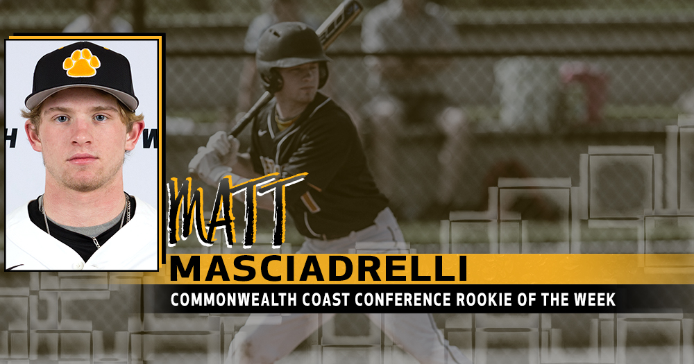 Masciadrelli Earns CCC Rookie of the Week Honors
