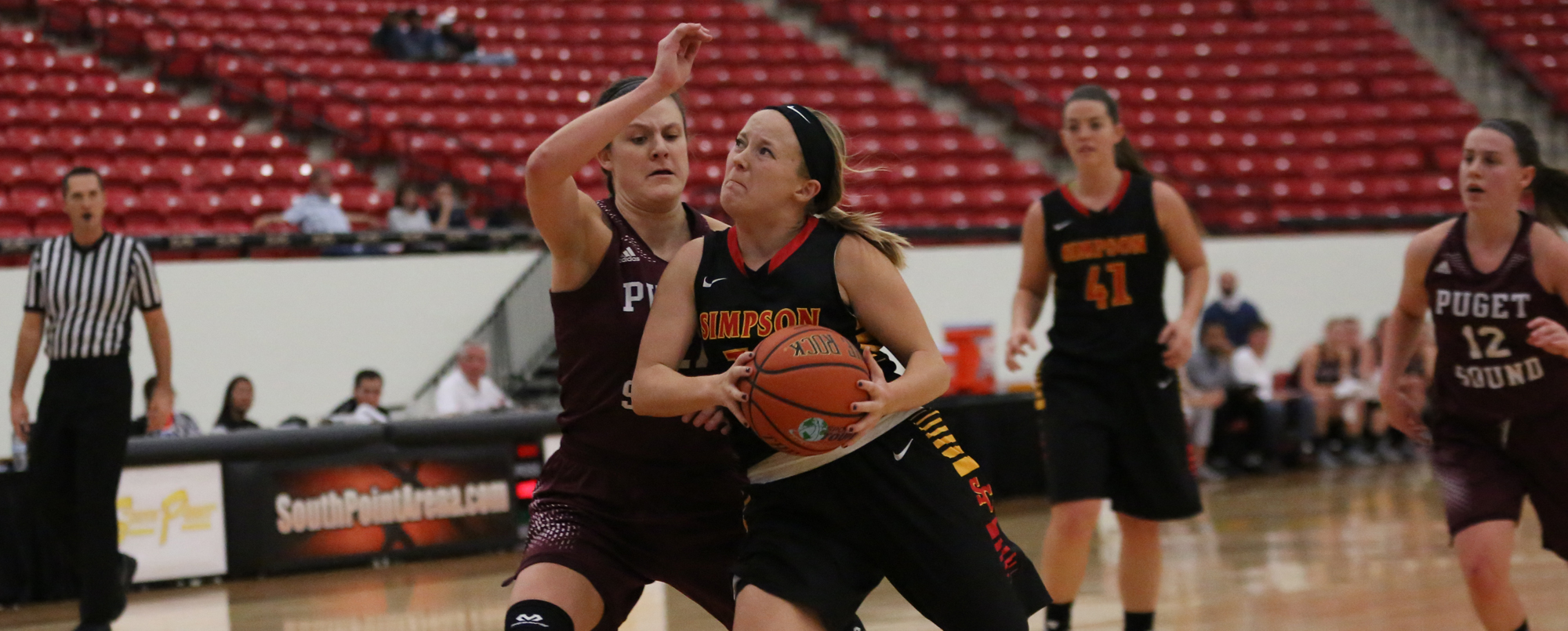 Megan Lankford scored 10 points in the Storm's 77-69 overtime loss to No. 23 Puget Sound on Thursday, Dec. 29.