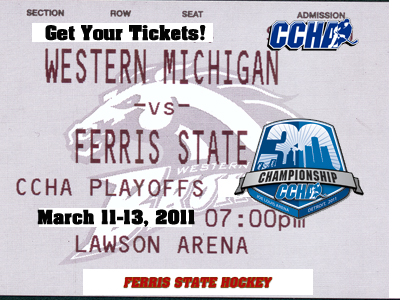 Tickets On Sale For Ferris State Hockey's CCHA Quarterfinal-Round Series