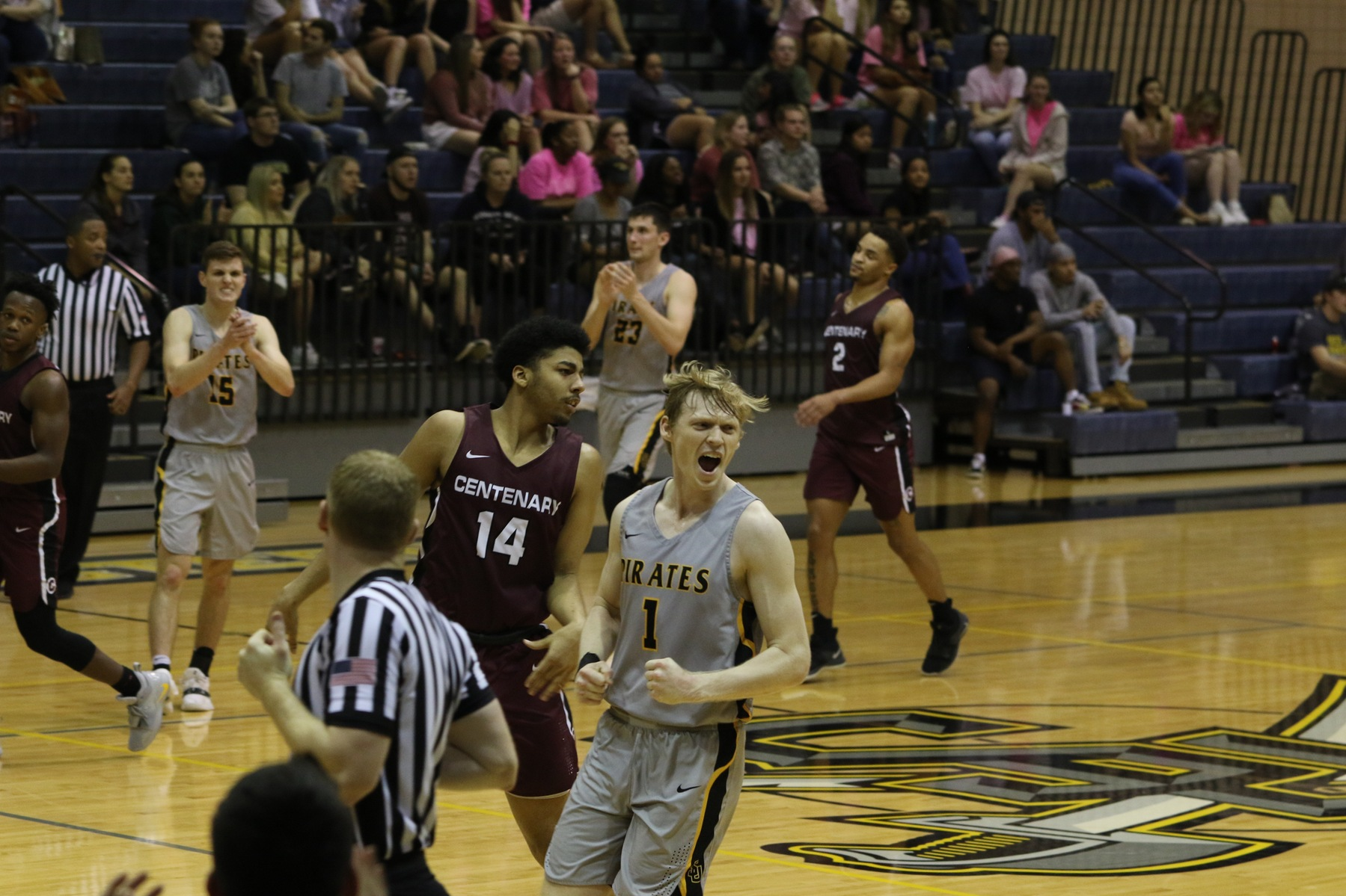 All Five Starters Reach Double Figures in Men's Basketball Victory Over Centenary