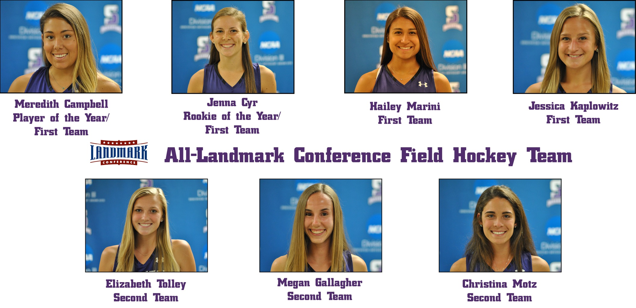 Campbell Player of the Year/Cyr Rookie of the Year, as Seven Named to All-Landmark Conference Teams for Field Hockey