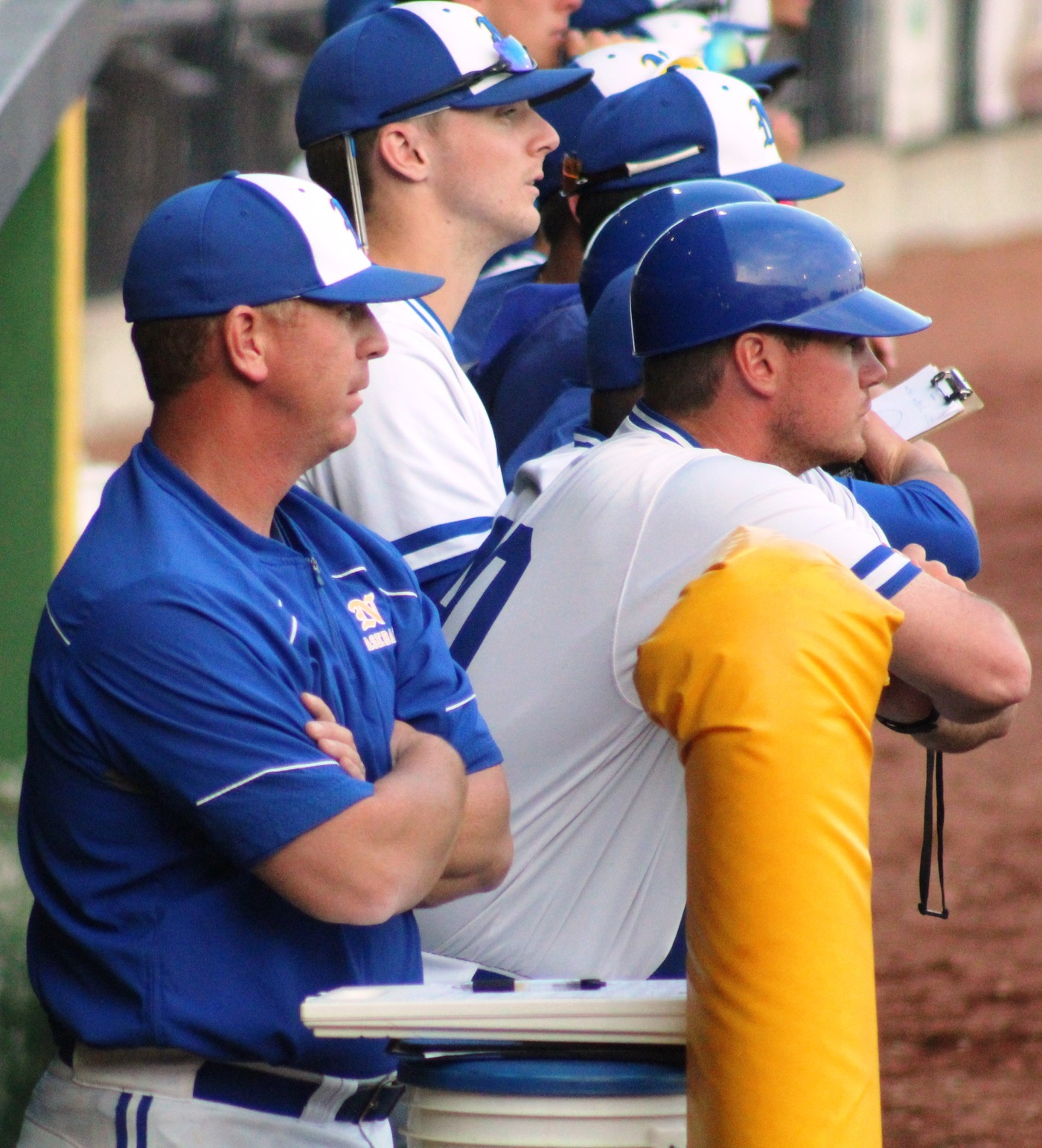 The NIACC bench at last year's regional baseball tournament.