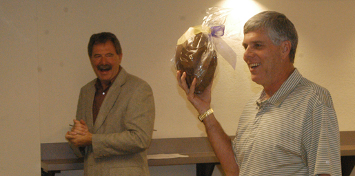 How sweet it is: Brown accepts chocolate football