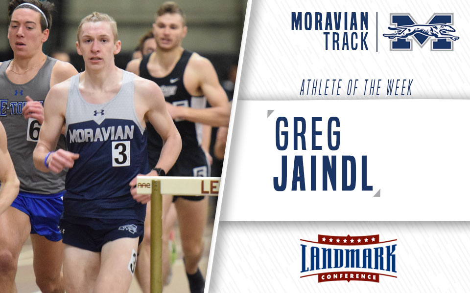 Junior Greg Jaindl named as the Landmark Conference Men's Track Athlete of the Week.