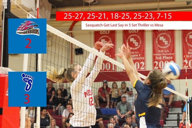 Sasquatch Get Last Say in 5 Set Thriller vs Mesa