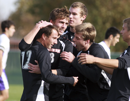 Christian Huelsman's hat trick lifts No. 9 Men's Soccer into finals of OAC Tournament with 6-0 win over Mt Union