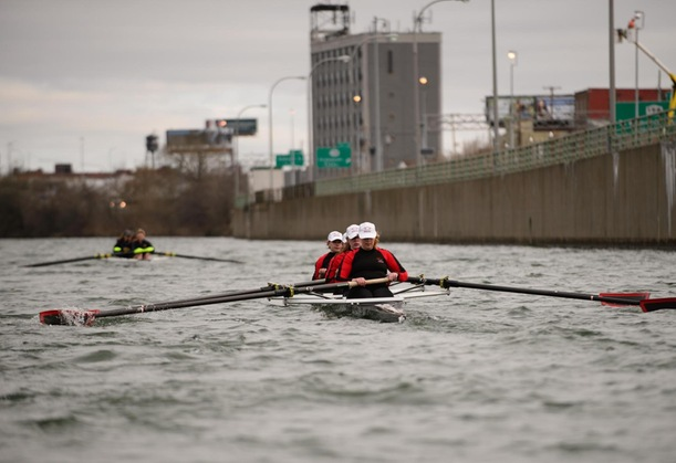 Women's Crew Takes First in First Race of Spring Season