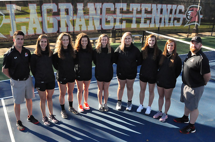 2017-18 in Review: Women's tennis downs Albany State, Maryville on Senior Day