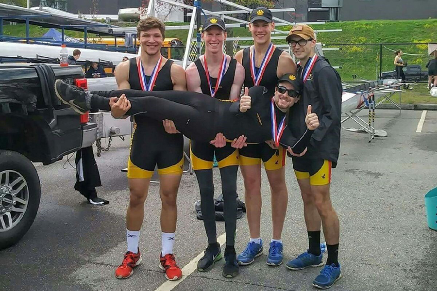 The novice four boat took home third place at the New England Rowing Championships