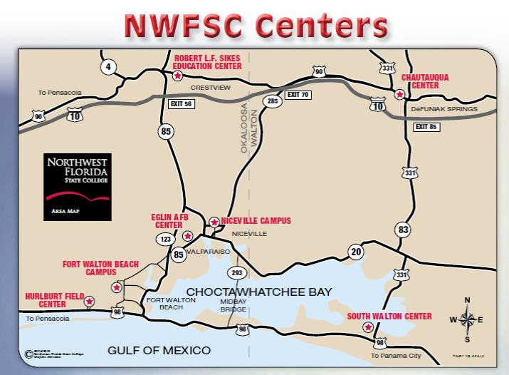Northwest Florida State College Fort Walton Beach Campus Map
