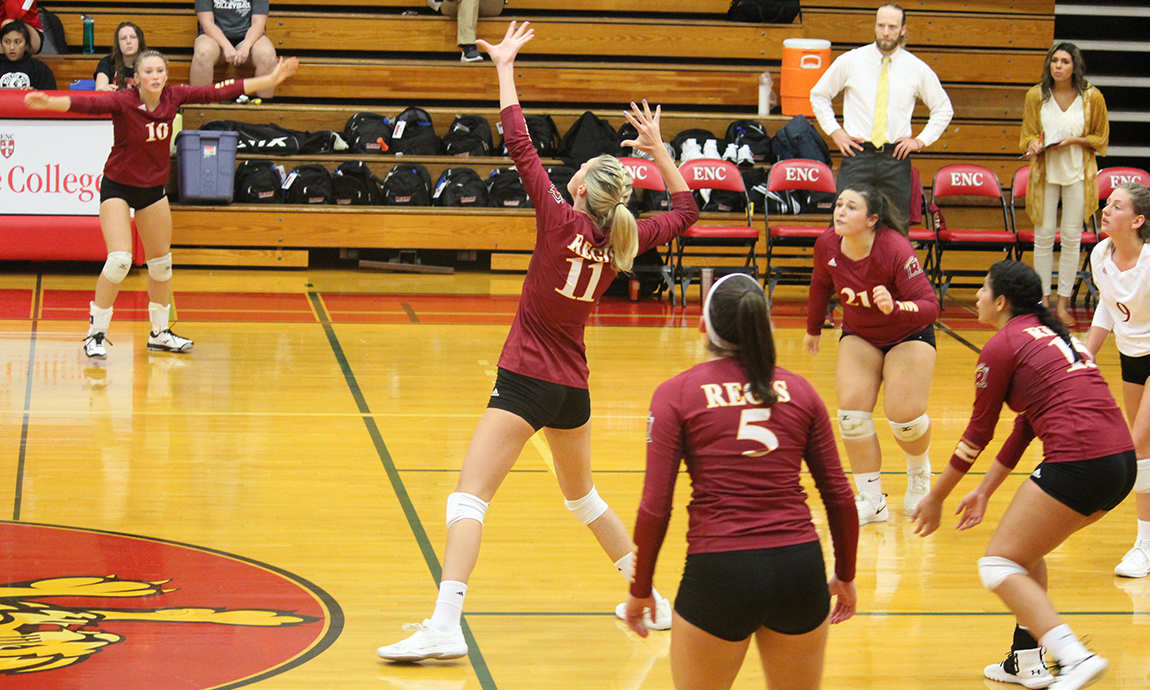Women's Volleyball Loses Competitive GNAC Contest