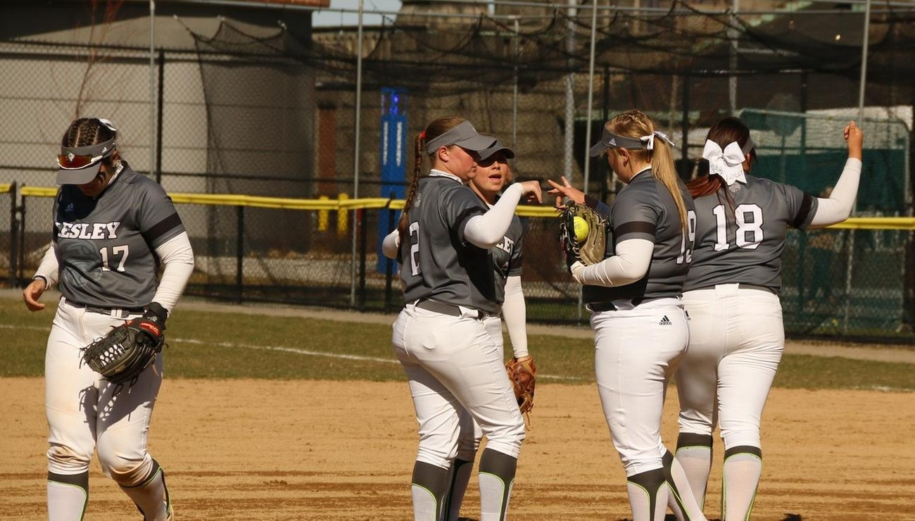 Lesley Drop NECC Doubleheader to New England College
