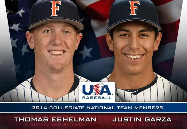 Eshelman, Garza Finish Off Summer With Team USA