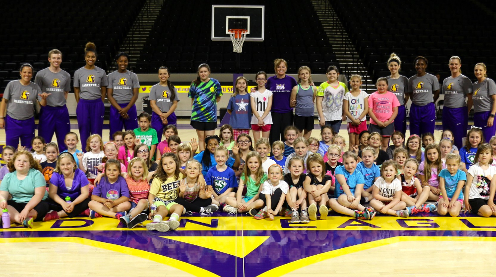 Women's Basketball hosted annual Girl Scout Clinic