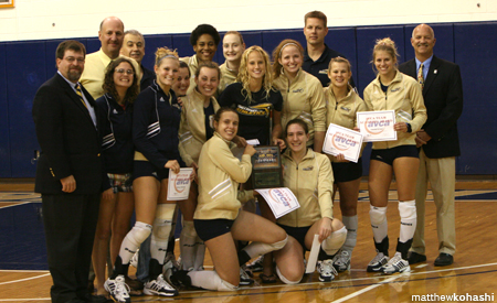 Gallaudet Volleyball Team Receives American Volleyball Association Coaches Award for Academic Excellence