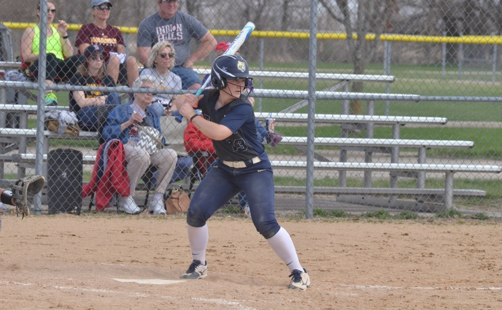 Softball falls twice on the road to Indian Hills