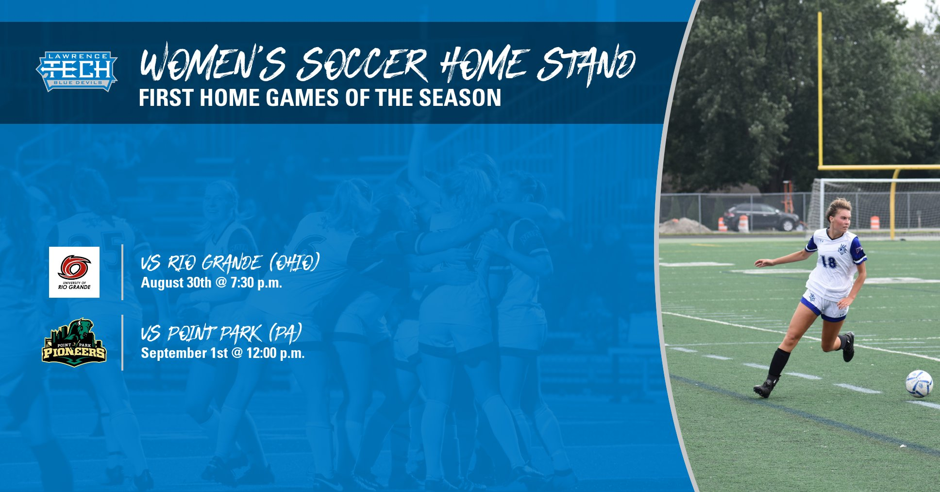 Women's Soccer Welcomes Rio Grande for Home Opener on Friday; Face Point Park on Sunday to Continue Home Stand