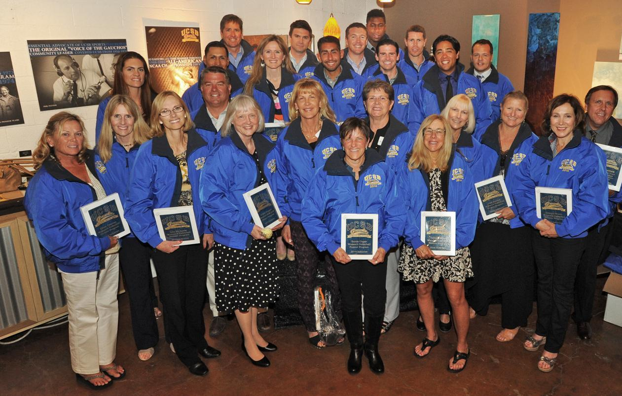 2014 UCSB Hall of Fame inductees. (Photo by Tom Kelsey)