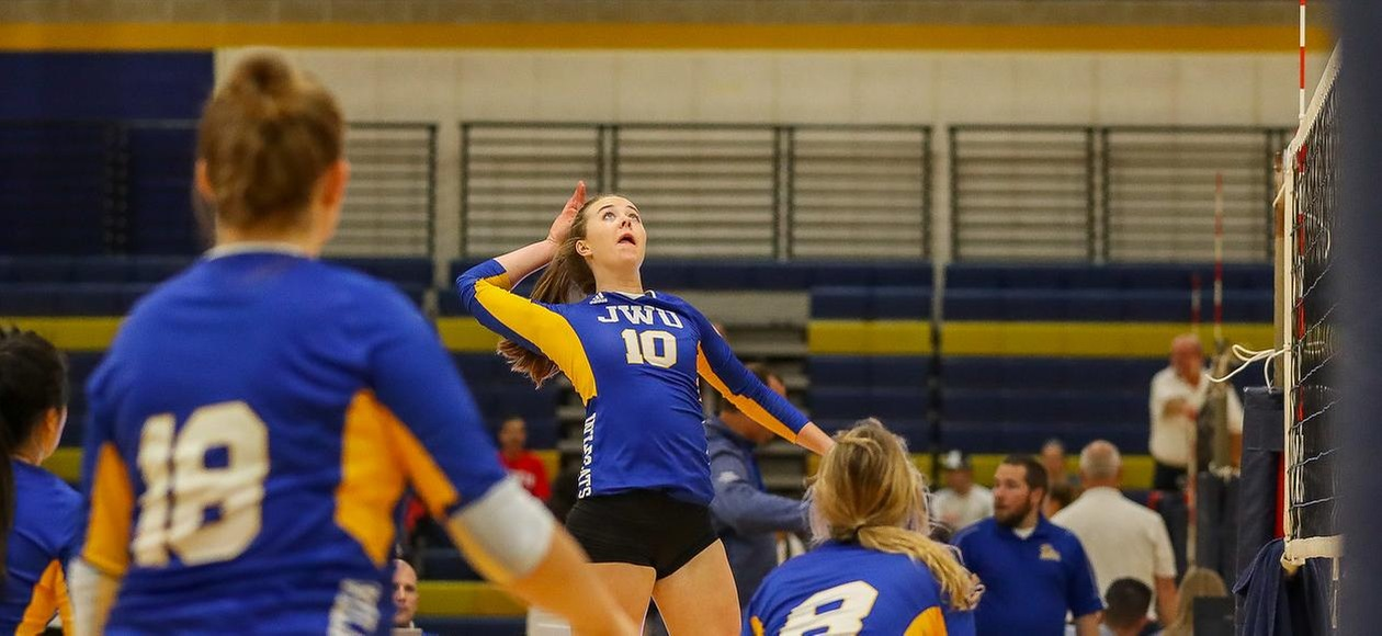 11th-ranked JWU Women's Volleyball Sweeps Monks & Mustangs