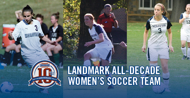 Black, Fitzpatrick & Schall Named to Landmark Conference Women's Soccer All-Decade