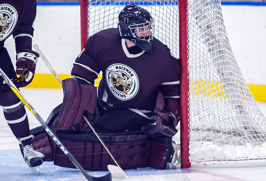 Chris Wray is in the final season of his solid five-year university career with the MacEwan Griffins (Len Joudrey photo).