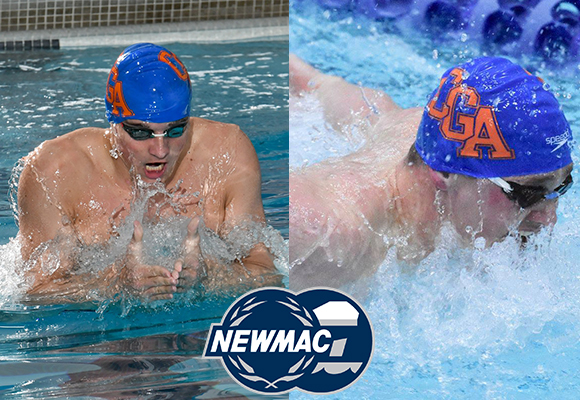 GIbson and Pompay Named to NEWMAC All-Academic Men's Swim Team